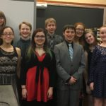 Catskill All-county chorus students with chroal teacher Michelle Storrs