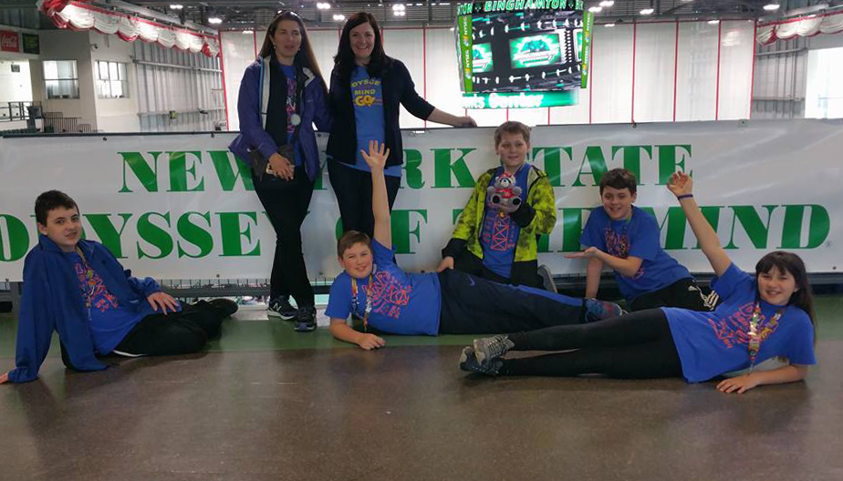 CMS team at New York State Odyssey of the Mind Competition