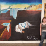 Kaitlyn with her Mural at CHS