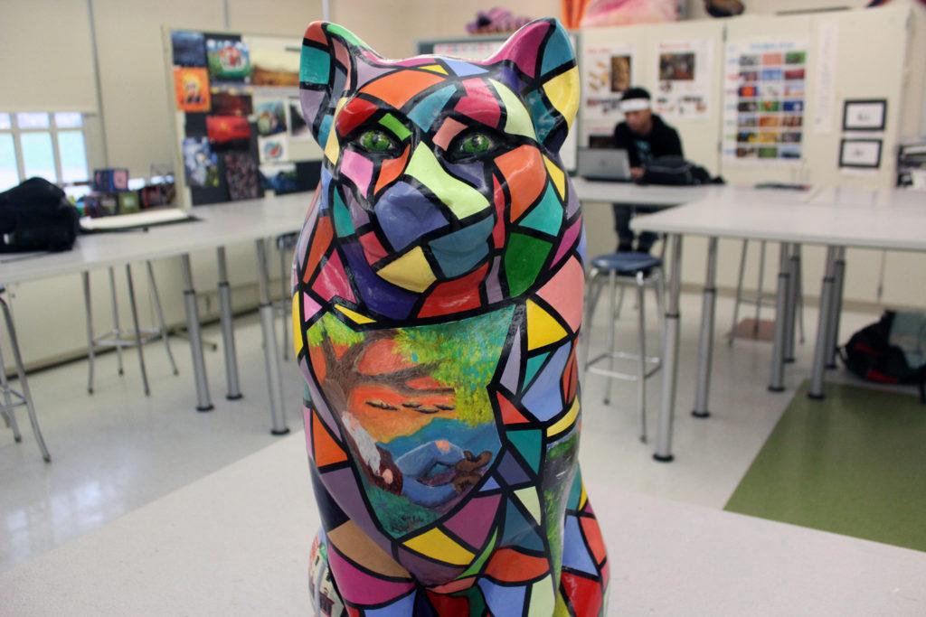 front of catskill high school's cat