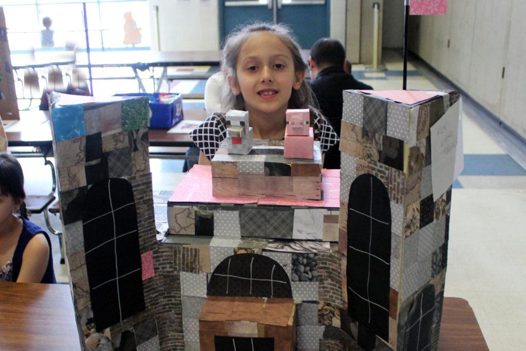 student show off castle she made