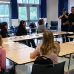 Student lsiten to Catskill EMS personnel at CHS