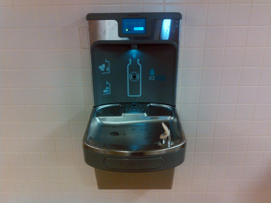 new water bottle filler at the high school