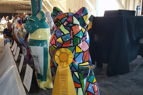 Window into the Catskills with it third place ribbon