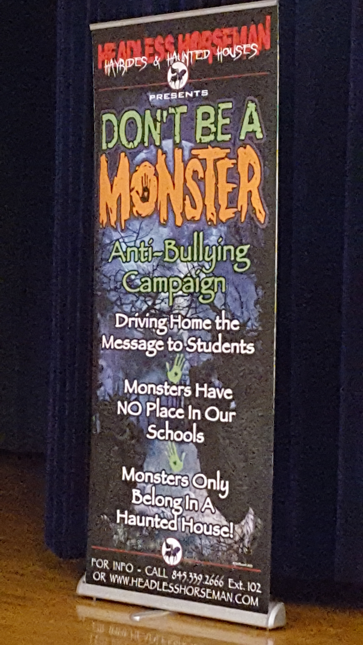 phot of Don't be a Monster banner