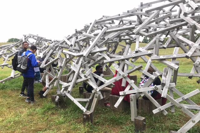 students explore sculpture