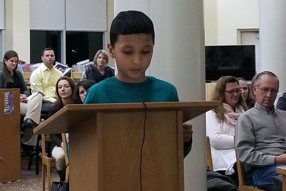 Makhai Henry reads his essay