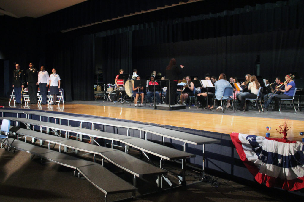 High School Band performs at Veterans ceremony