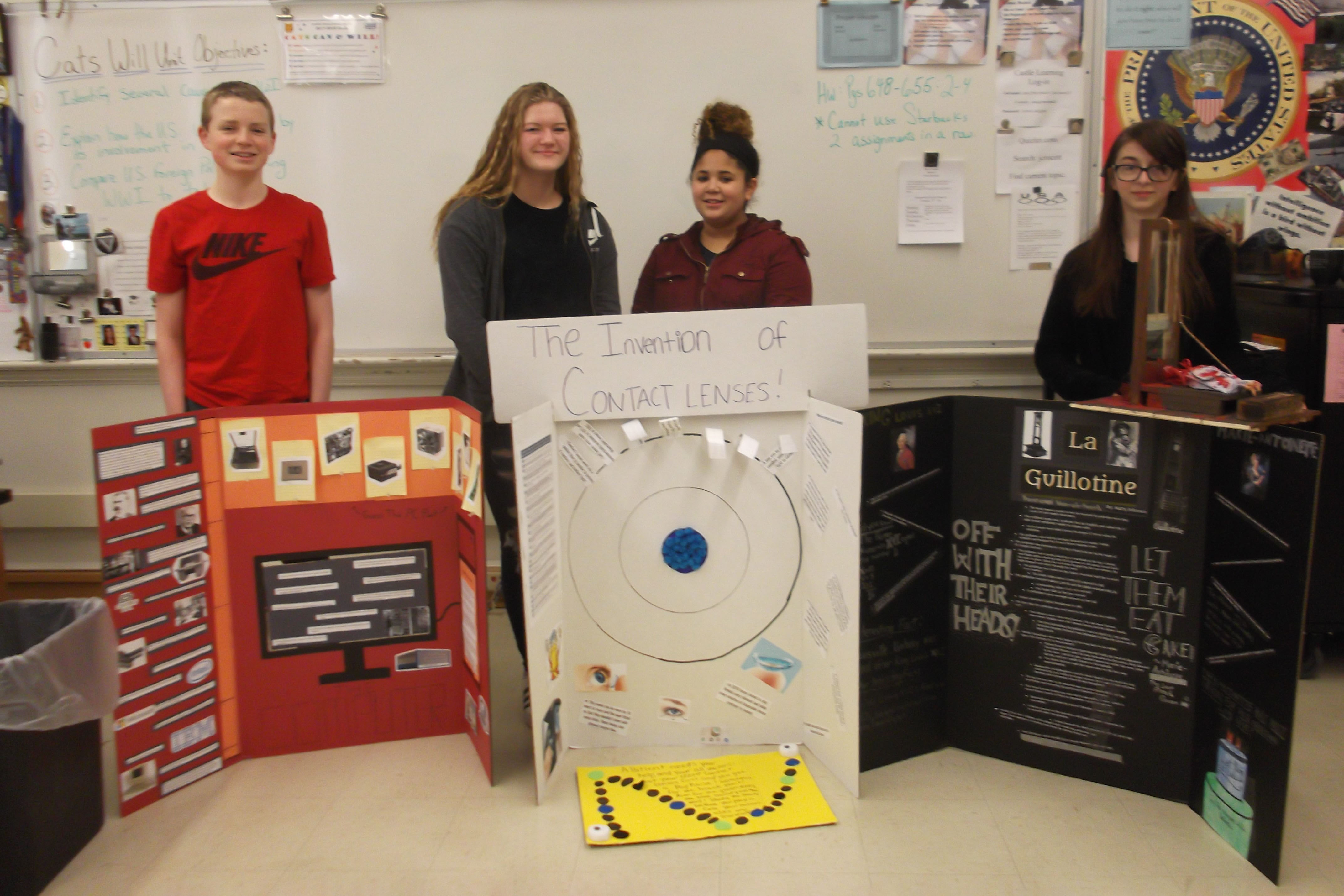 Pictured from Left to Right: Nate Riordon, Hannah Konsul, Alivia Westbrooke and Mary Johnson.