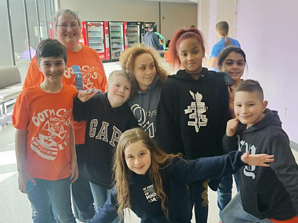 CES team at state Odyssey of the Mind tournamnent