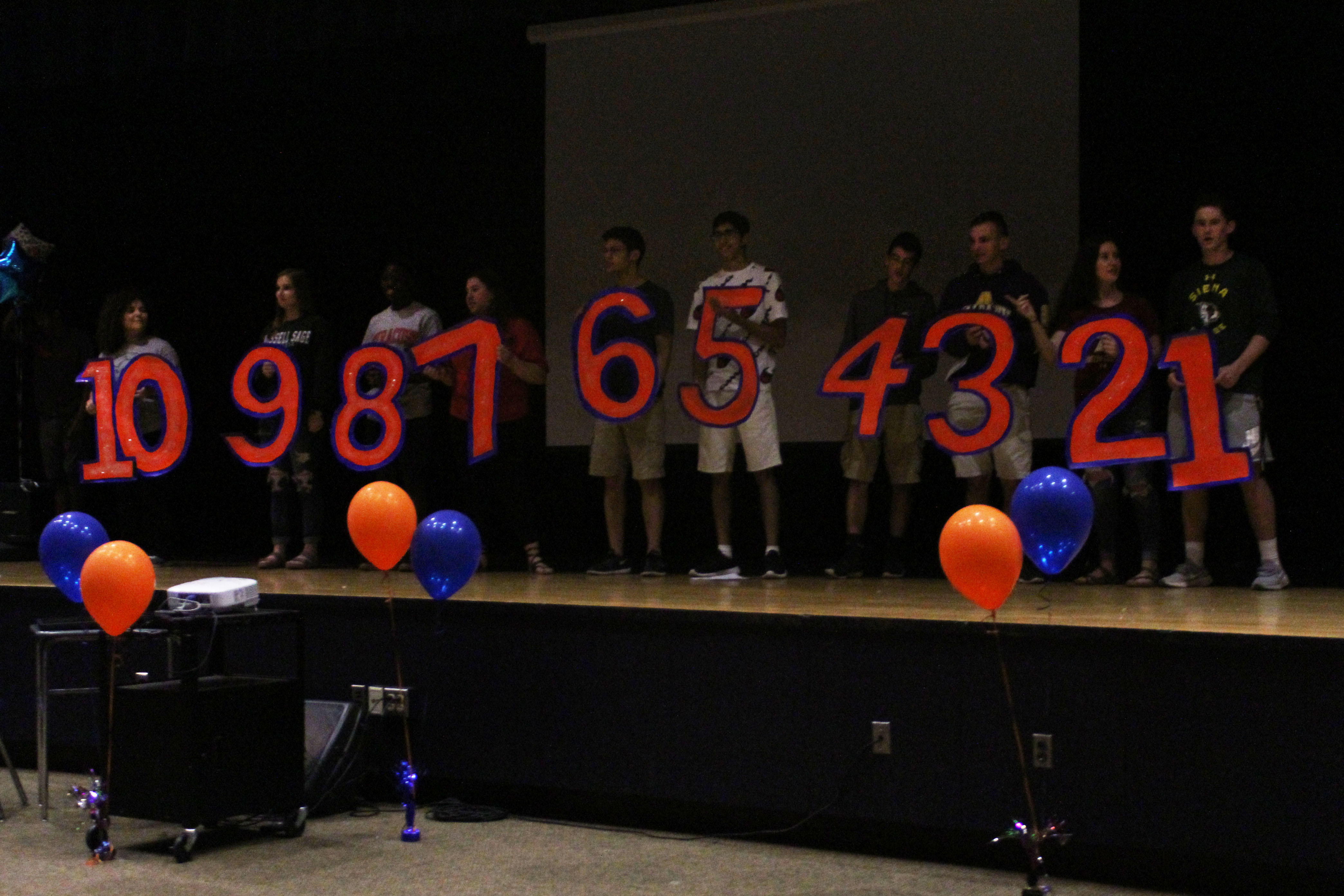 ents holding number representing their class ranking