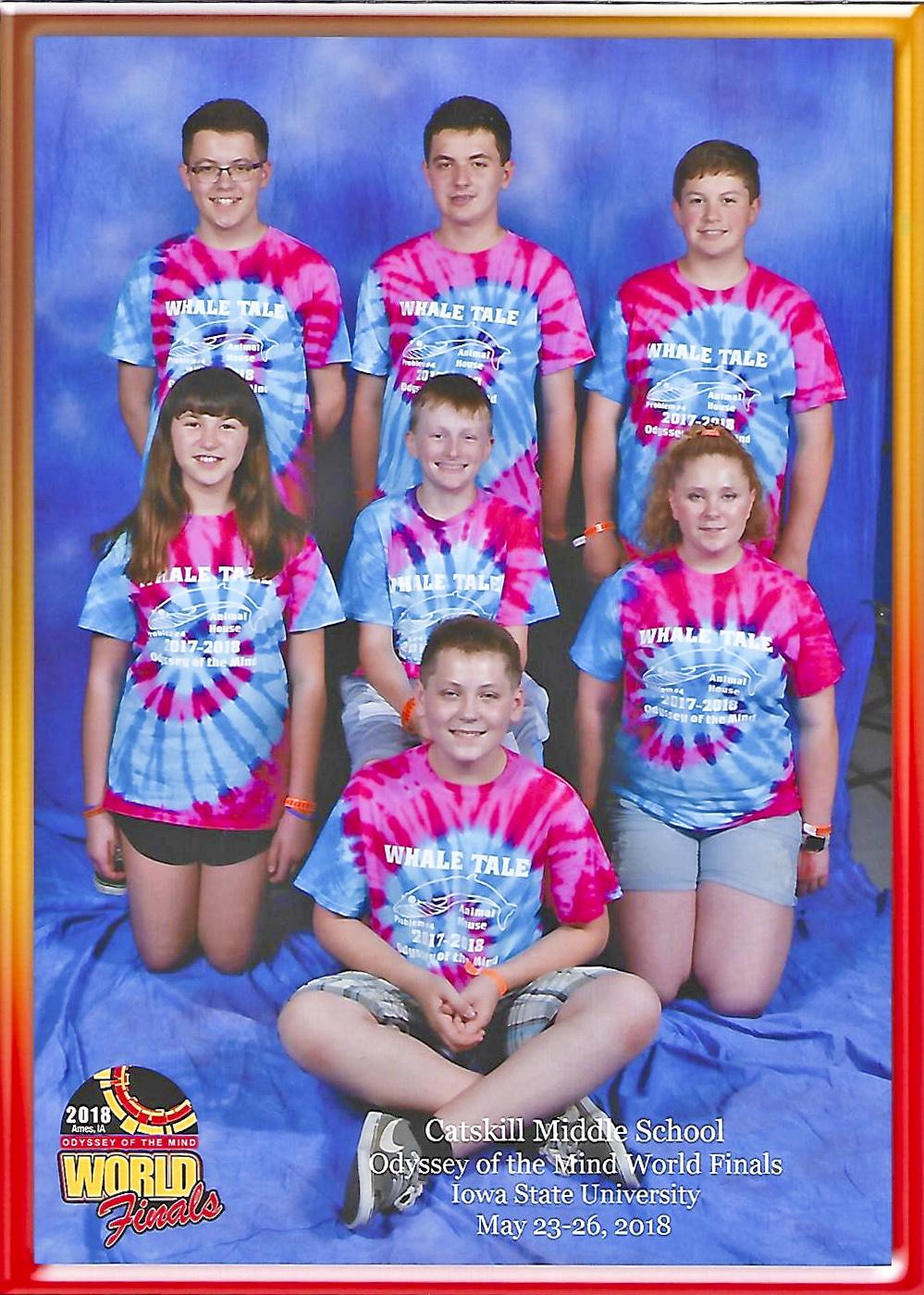 Team Whale Tale team photo at world finals