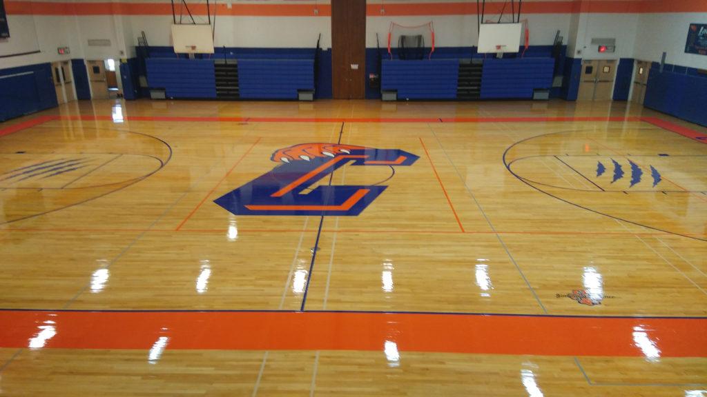 HS gym floor
