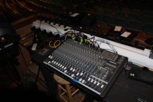 HS auditorium sound system
