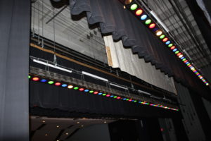 stage curtains and lighting