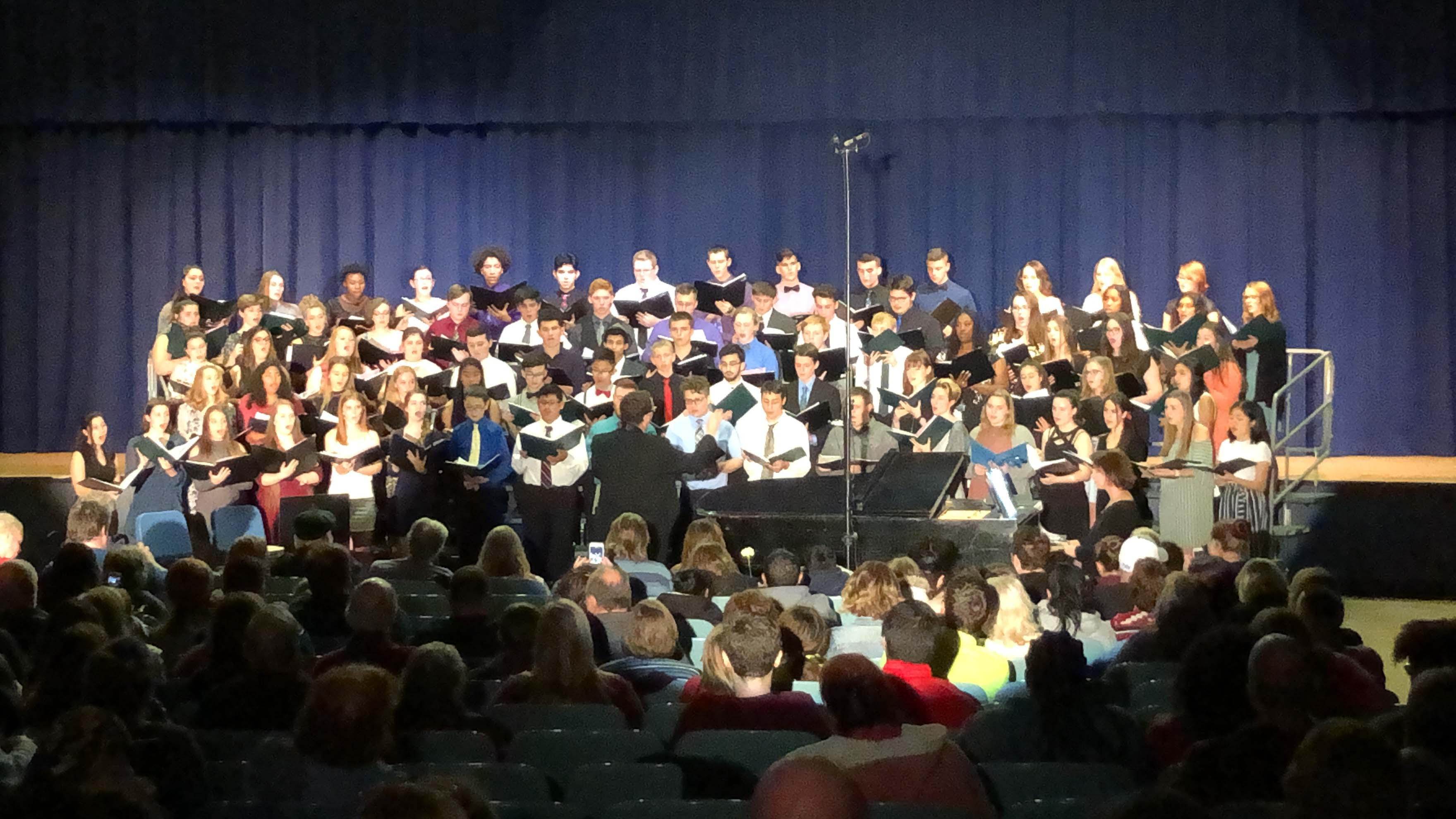 Senior High Chorus performing During All-County Festival