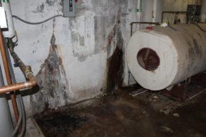 MS boiler room wall
