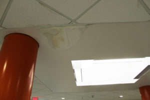 leaking roof at HS