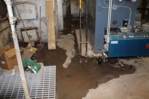 wet floor in MS/HS boiler room