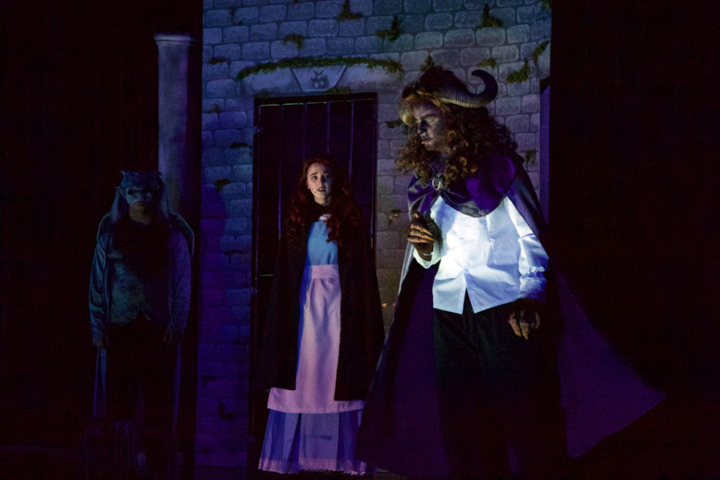 Belle and the beast in the Castle
