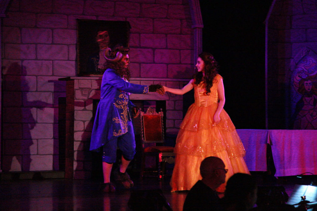 The Beast and Belle dancing