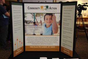 Community Action poster board display