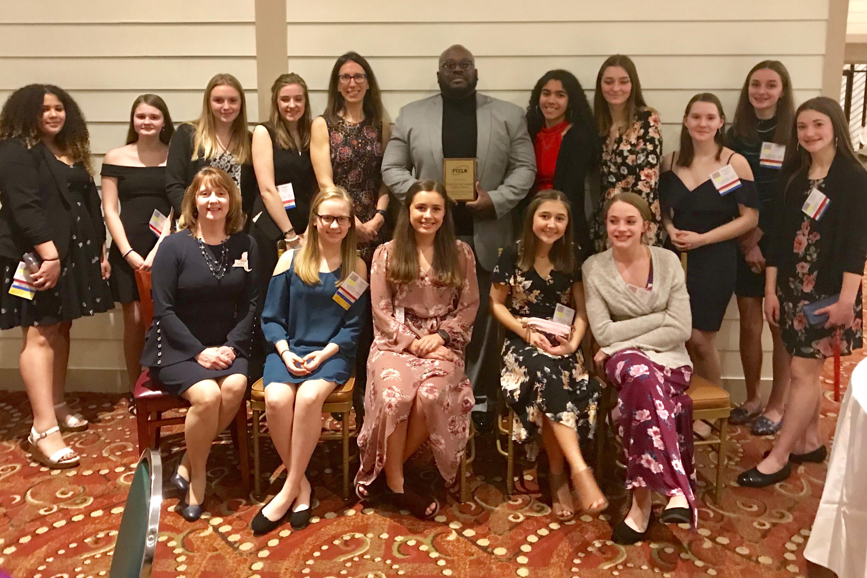 Group photo of Catskill students who attended NYS FCCLA conference