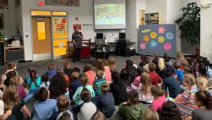Diane DeGroat talks to students