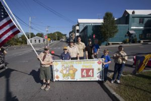 boy scouts with banner