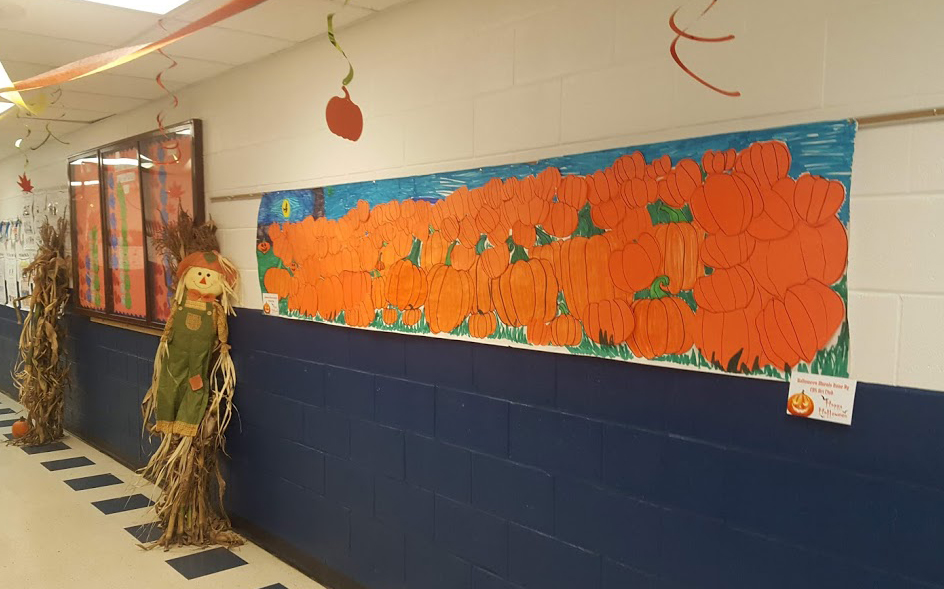mural with pumkins
