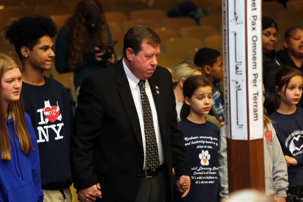 Assemblyman Chris Tague and children standing together