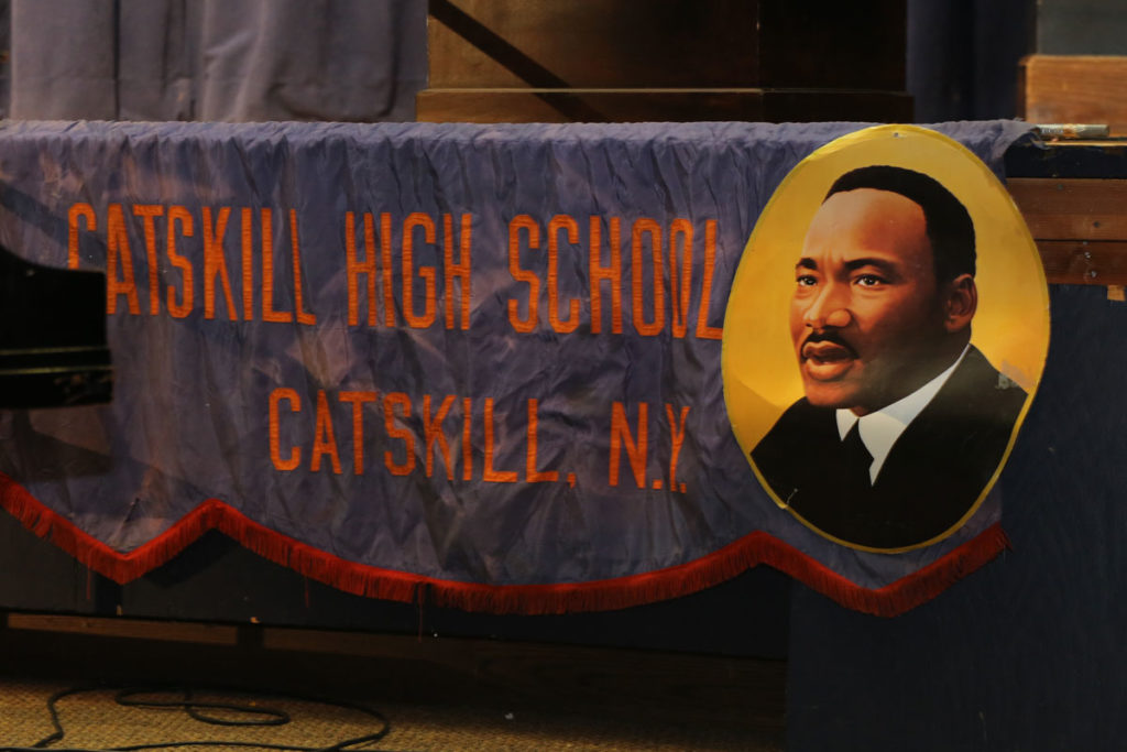 Catskill High School banner showing Dr. Martin Luther King Jr.