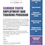 Flyer that says Columbia-Greene Workforce NY A proud partner of the American Job Center Networt SUMMER YOUTH EMPLOYMENT AND TRAINING PROGRAM Columbia-Greene Workforce New York is now recruiting for the Summer Youth Employment and Training Program (SYETP). This grant-funded program provides summer employment opportunities for youth between the ages of 14-21. All applicants must meet certain income guidelines to be eligible for the SYETP program. Eligibility Guidelines for SYETP: Individuals receiving one or more of the following are automatically income eligible. All other applicants' family income will be reviewed for eligibility. • Food Stamps • SSI • HEAP • Medicaid • Department of Social Services SNAP • In Foster Care Placement COLUMBIA-GREENE WORKFORCE 4400 Route 23 Hudson, NY 12534 518-828-4181 Ext. 5510 http://www.columbiagreene works.org/