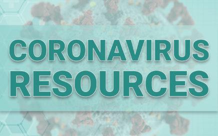 Image of virus and the words coronavirus resources
