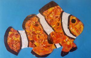 painting of clown fish