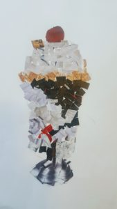 collage image of ice cream sundae