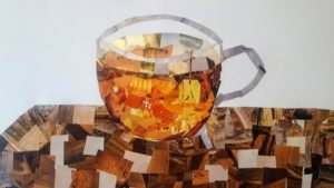 collage image of tea cup