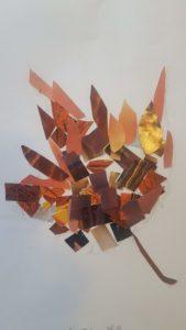 collage image of leaf