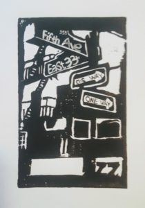 print of street signs and corner