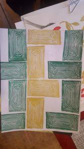 abstract block print
