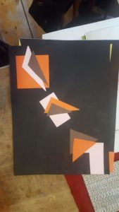 collage of geometric shapes