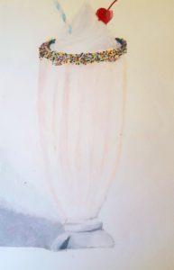 drawing of milkshake