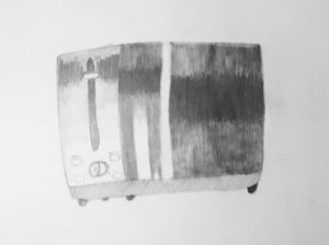 pencil drawing of toaster