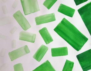painting of green rectangles