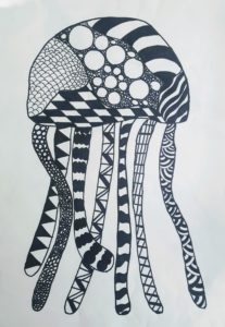 drawing of jellyfish
