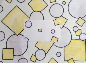 drawing of circles and squares