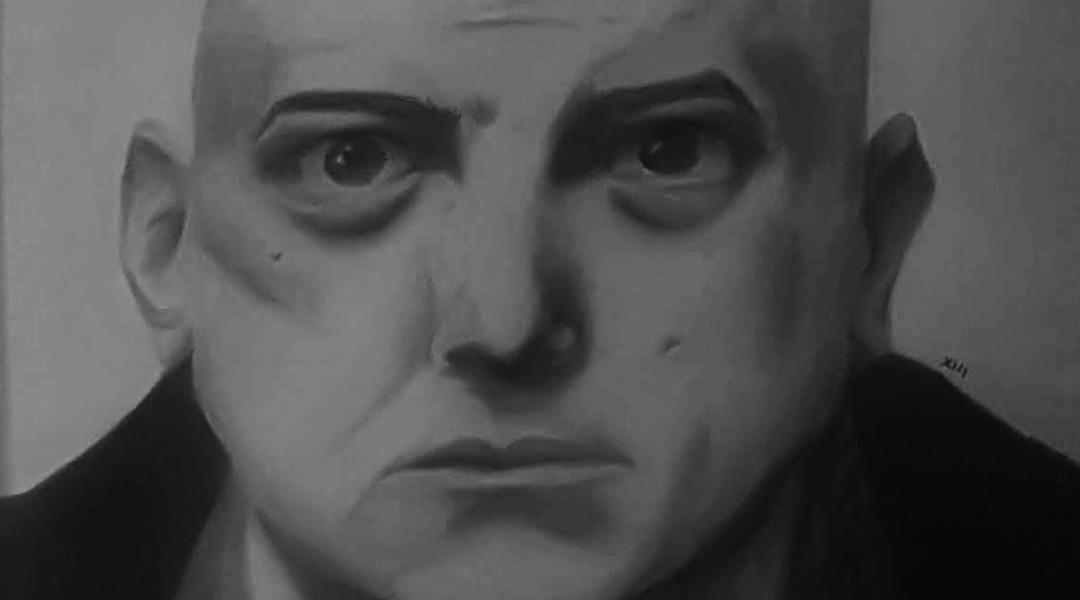 portrait of bald man