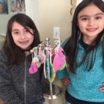 two girls with salt dough ornaments