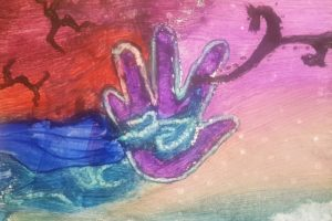 abstract hand painting