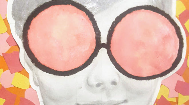 drawing of woman wearing sunglasses
